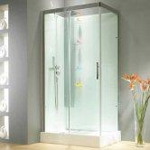 Kinedo Horizon Corner Shower Cubicle Enclosure 1100mm x 800mm - Sliding Door