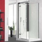 Kinedo Horizon Recessed Thermo Corner Shower Cubicle 800mm x 800mm with Pivot Door