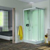 Kinedo Kineprime Glass Corner Slider Shower Cubicle 700mm x 700mm Self-Contained