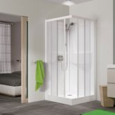 Kinedo Kineprime Glass Corner Slider Shower Cubicle 800mm x 800mm Self-Contained
