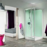 Kinedo Kineprime Pivot Glass Shower Cubicle 700mm x 700mm Self-Contained