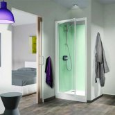 Kinedo Kineprime Recessed Pivot Glass Shower Cubicle 700mm x 700mm Self-Contained
