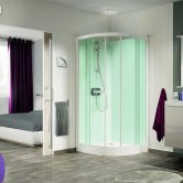 Kinedo Kineprime Quadrant Glass Shower Cubicle 800mm x 800mm Self-Contained
