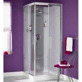 Kinedo Moonlight Corner Shower Cubicle 800mm x 800mm - Sliding Door