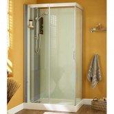Kinedo Moonlight Corner Shower Cubicle 1100mm x 800mm - Sliding Door