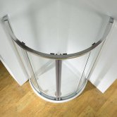 Kudos Original 910 Centre Access Quadrant Shower Enclosure with Tray 910mm x 910mm - 5mm Glass