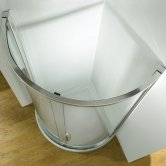 Kudos Original 910 Side Access Quadrant Shower Enclosure with Tray 910mm x 910mm - 5mm Glass