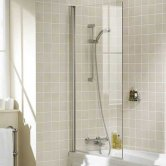 Lakes Classic Single Panel Square Bath Screen 1500mm H x 800mm W - 8mm Glass