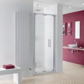 Lakes Coastline Bergen Bi-Fold Shower Door 2000mm H x 900mm W - 8mm Glass