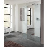 Lakes Coastline Cannes Walk-In Shower Panel 2000mm H x 1000mm W - Mirror Finish