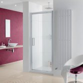 Lakes Coastline Narva Pivot Shower Door 2000mm H x 700mm W - 8mm Glass