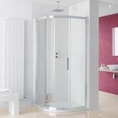 Lakes Coastline Sorong Quadrant Shower Enclosure 800mm x 800mm - 8mm Glass