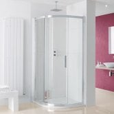 Lakes Coastline Sorong Quadrant Shower Enclosure 900mm x 900mm - 8mm Glass