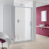 Lakes Coastline Talsi Sliding Shower Door 2000mm H x 1600mm W - 8mm Glass