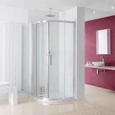 Lakes Coastline Valmiera Quadrant Shower Enclosure 800mm x 800mm - 8mm Glass