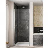 Lakes Italia Amare Semi Frameless Pivot Shower Door 2000mm H x 700mm W - Left Handed