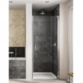 Lakes Italia Amare Semi Frameless Pivot Shower Door 2000mm H x 1000mm W - Right Handed