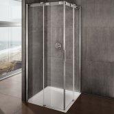 Lakes Italia Avanza Frameless Sliding Shower Door 2000mm H x 800mm W - Left Handed Only