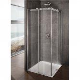 Lakes Italia Avanza Frameless Corner Entry Sliding Shower Enclosure 800mm x 800mm - 8mm Glass