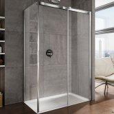 Lakes Italia Luminosa Frameless Sliding Shower Door 2000mm H x 1400mm W - Right Handed