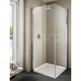 Lakes Italia Ritiro Semi Frameless Pivot Shower Door 2000mm H x 1000mm W - Left Handed Only