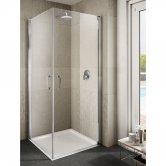 Lakes Italia Ritiro Semi Frameless Pivot Shower Door 2000mm H x 700mm W - Right Handed Only