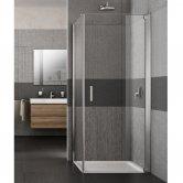 Lakes Italia Vivo Semi Frameless Pivot Shower Door 2000mm H x 700mm W - Right Handed