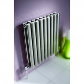 MaxHeat Aspen Double Designer Horizontal Radiator 600mm H x 1000mm W Stainless Steel
