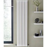 MaxHeat Aspen Single Designer Vertical Radiator 1800mm H x 540mm W White