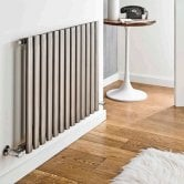 MaxHeat Aspen Single Designer Horizontal Radiator 600mm H x 400mm W Stainless