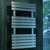MaxHeat Detroit Flat Panel Heated Towel Rail 790mm H x 500mm W Brushed Stainless Steel