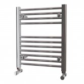 MaxHeat Falmouth Straight Towel Rail, 600mm High x 500mm Wide, Chrome