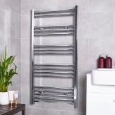 MaxHeat G4K Straight Heated Towel Rail 800mm H x 600mm W - Chrome
