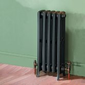 MaxHeat Heritage 4 Column Cast Iron Radiator 760mm High x 300mm Wide - 5 Sections Primer Finish