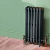 MaxHeat Heritage 4 Column Cast Iron Radiator 475mm High x 360mm Wide - 6 Sections Primer Finish