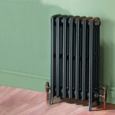 MaxHeat Heritage 4 Column Cast Iron Radiator 660mm High x 420mm Wide - 7 Sections Primer Finish