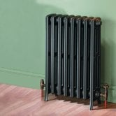 MaxHeat Heritage 4 Column Cast Iron Radiator 475mm High x 480mm Wide - 8 Sections Primer Finish