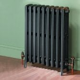 MaxHeat Heritage 4 Column Cast Iron Radiator 360mm High x 540mm Wide - 9 Sections Primer Finish
