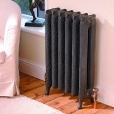 MaxHeat Historic Cast Iron Radiator 760mm H x 228mm W 3 Sections Primer