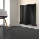 MaxHeat Laser Klassic 2 Column Radiator 600mm High x 650mm Wide 14 Sections - Anthracite