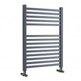 MaxHeat Lazzarini Todi Designer Towel Rail 690mm H x 500mm W - Anthracite