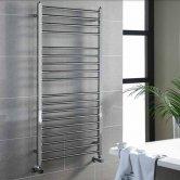 MaxHeat Marlow Heated Towel Rail 800mm H x 500mm W Polished Stainless Steel