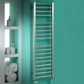 MaxHeat Marlow Heated Towel Rail 800mm H x 500mm W Polished Stainless Steel