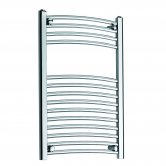 MaxHeat MaxRail Curved Heated Towel Rail 800mm H x 300mm W Chrome