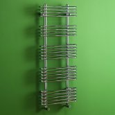 MaxHeat Oakland Designer Heated Towel Rail 1176mm H x 500mm W Chrome