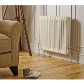 MaxHeat Octavius 3 Column Horizontal Radiator 600mm H x 599mm W - White