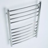MaxHeat Ripley Curved Heated Towel Rail 720mm H x 600mm W Stainless Steel