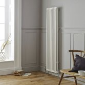 MaxHeat Tubular 2 Column Radiator 1500mm H x 335mm W 7 Sections - White