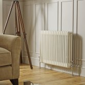 MaxHeat Tubular 4 Column Radiator 400mm H x 650mm W 14 Sections - White