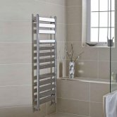 MaxHeat York Flat Panel Heated Towel Rail 952mm H x 500mm W Chrome